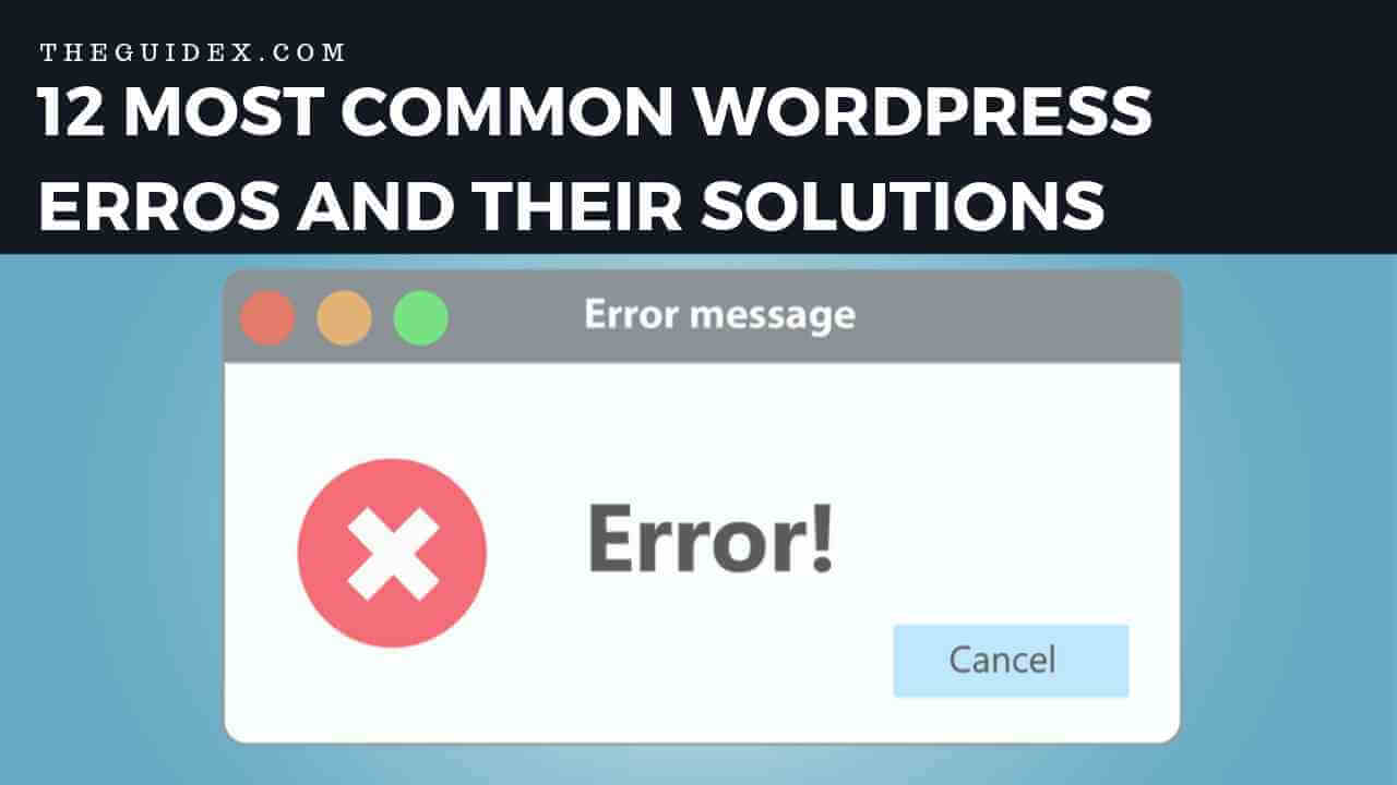 wordpress errors, wordpress common errors,